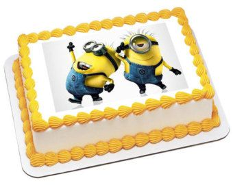 Excellent Pics Of Despicable Me Sheet Cakes Despicable Me2 Minion Personalised Birthday Cards Cominlily Jamesorg