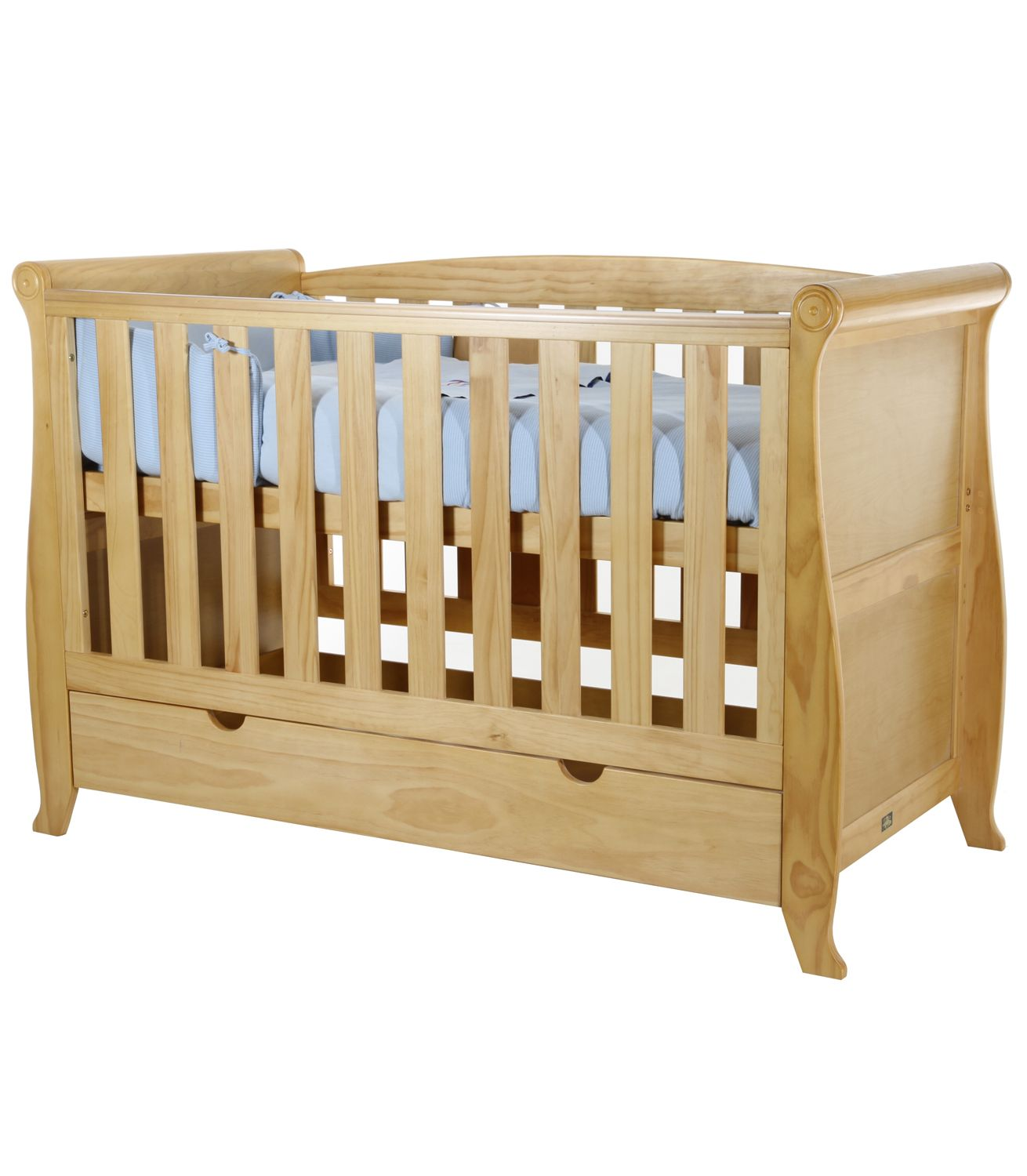 Buy Your Kiddicouture Woodhouse Sleigh Cotbed Antique From Kiddicare Cot Beds Only