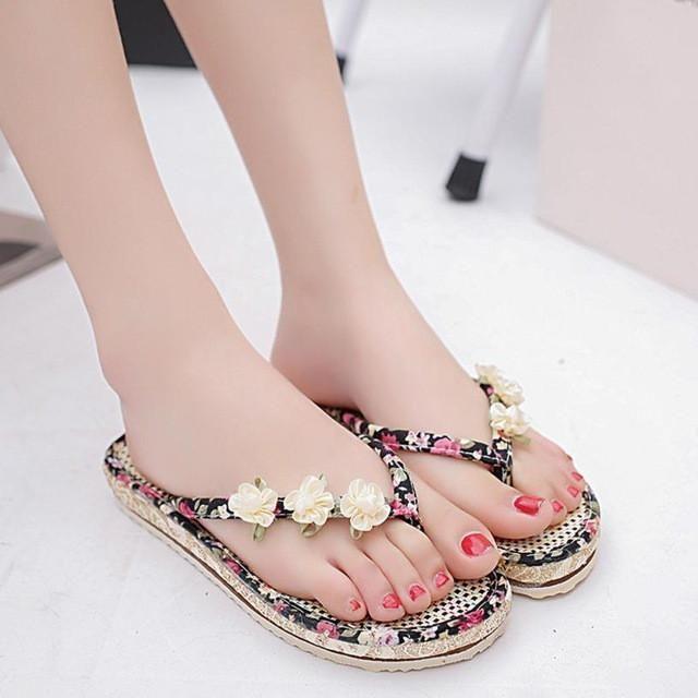 52e04eb88f3c MUQGEW Ladies Flip Flops Women s Summer Sandals Shoes Peep-toe Low Shoes  Roman Sandals  LREW