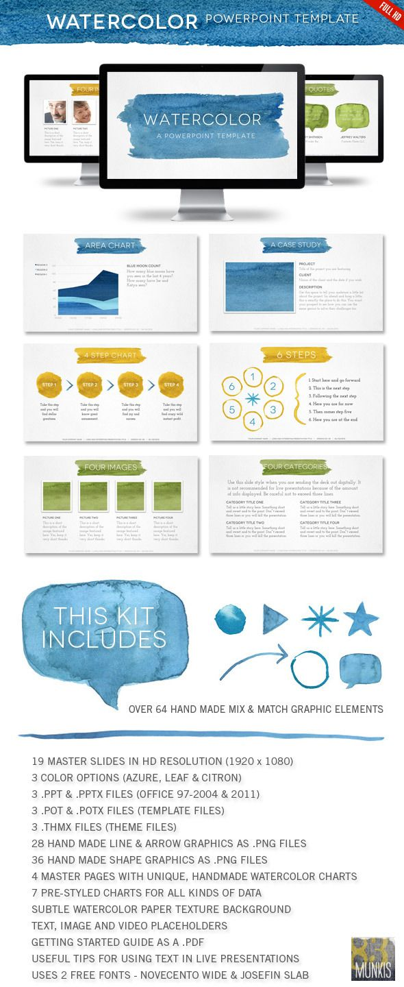 Watercolor powerpoint template watercolor powerpoint template powerpoint templates presentation templates toneelgroepblik Image collections