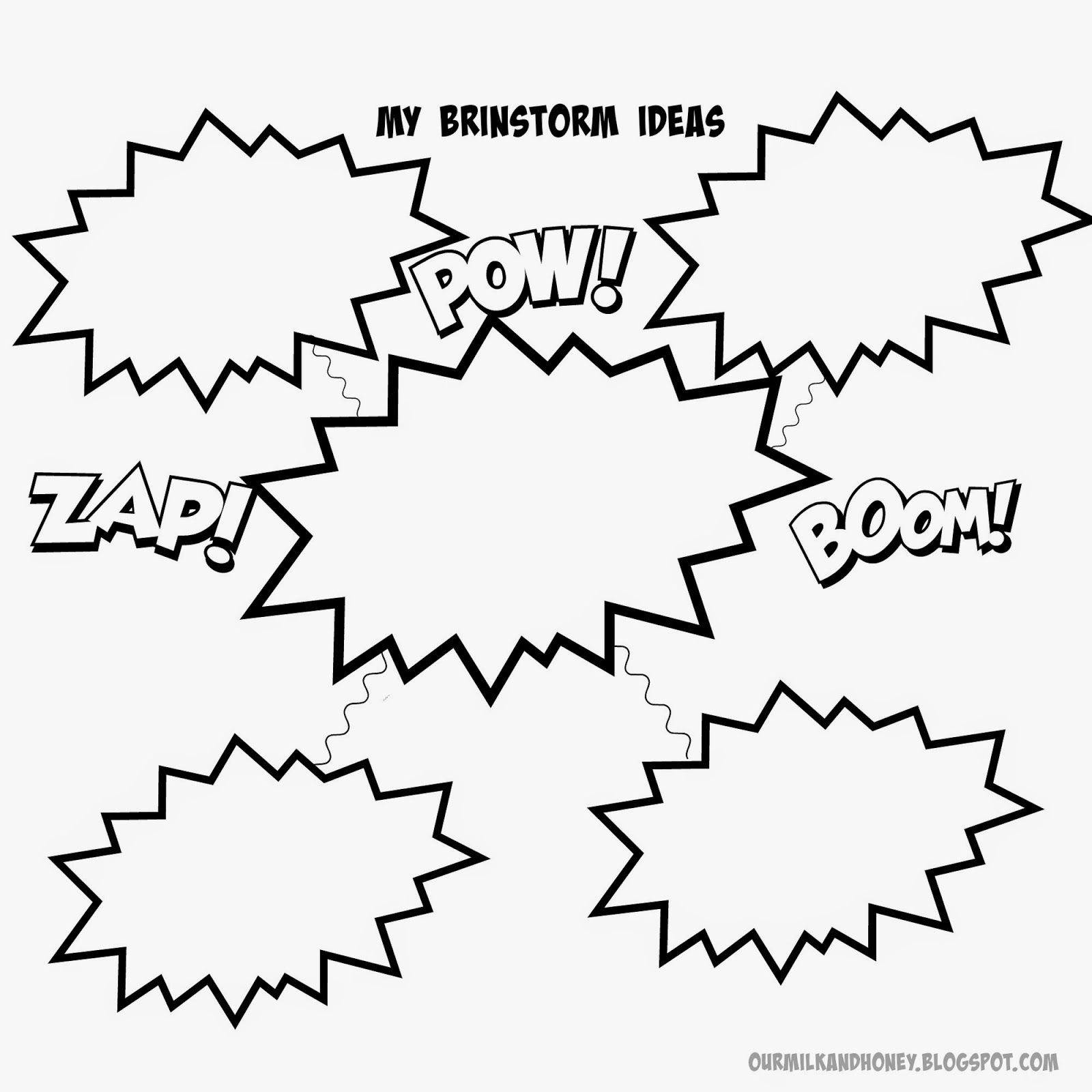 Prewriting Writing Brainstorming Printable Free Printable