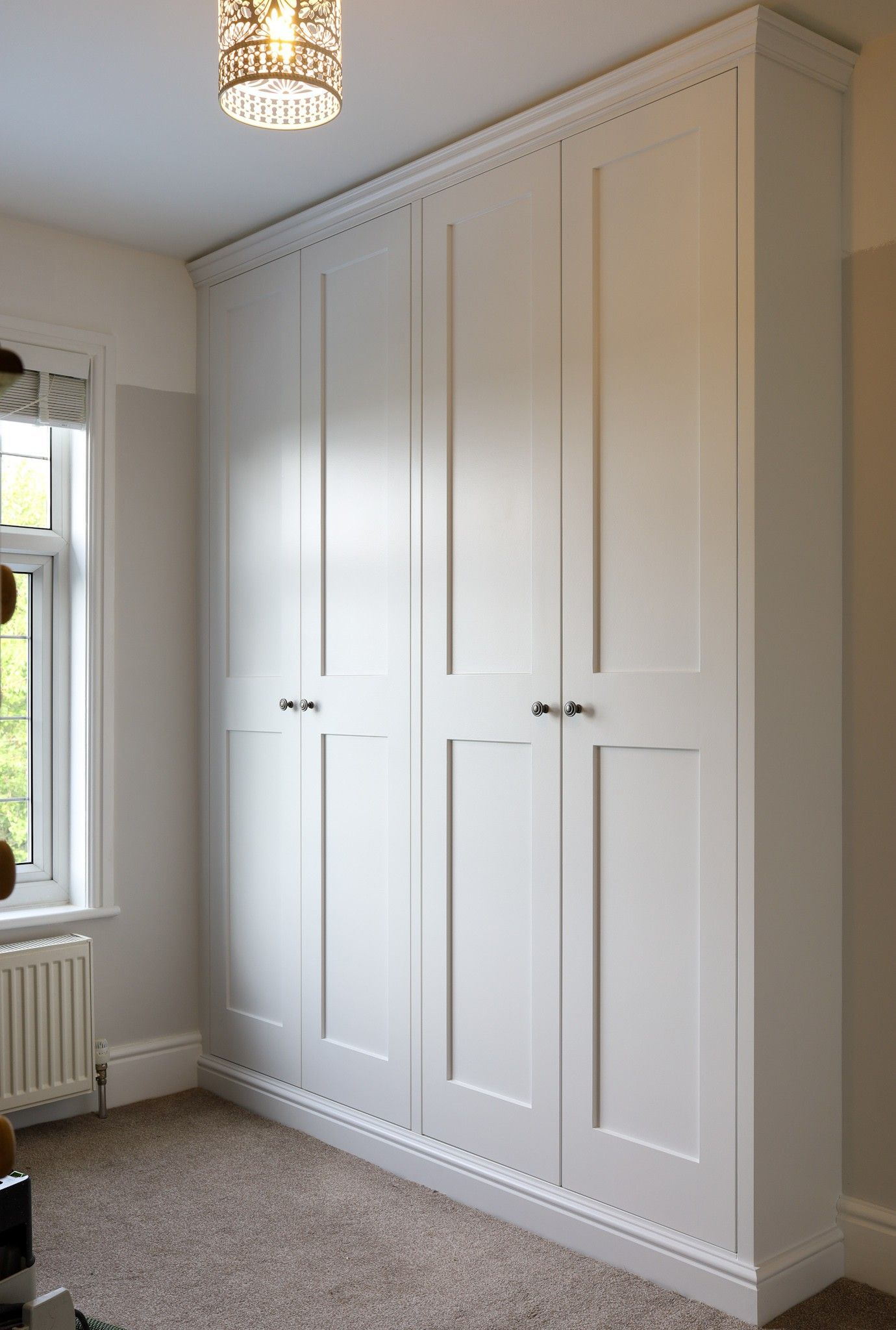 4 door shaker wardrobes made and fitted by TW Bespoke in Burton on Trent (With images) | Bedroom built in wardrobe, Wardrobe door designs, Bedroom built ins