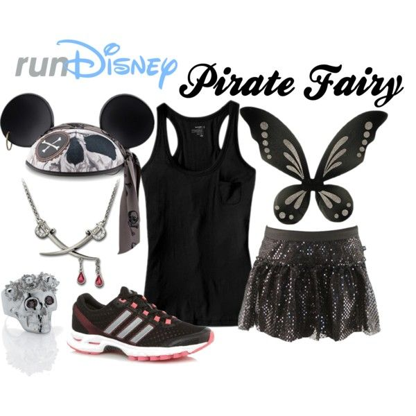 "Costume d'Halloween - Tenue de course inspirée Zarina la fée pirate | Halloween Costume - ""Disney Zarina the Pirate Fairy Running Outfit"" by mamaspartydress on Polyvore #halloweencostume"