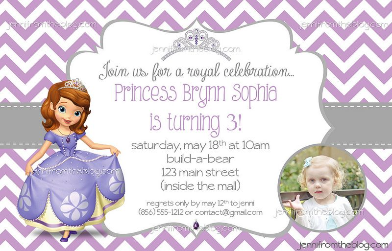 sophia the first birthday party invite jennifromtheblog com