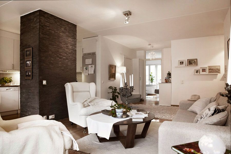 Beautiful Brown And White Apartment Interior Design In Swedish