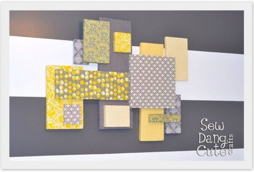 Layered Fabric Wall Art ~ Home Decor Project | The Fabric Shopper ...