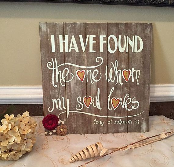Religious Wall Art   Christian Wall Art   Bible Verse   Scripture Art    Bible Verse Art   Rustic Wedding   Rustic Wedding Sign   Love
