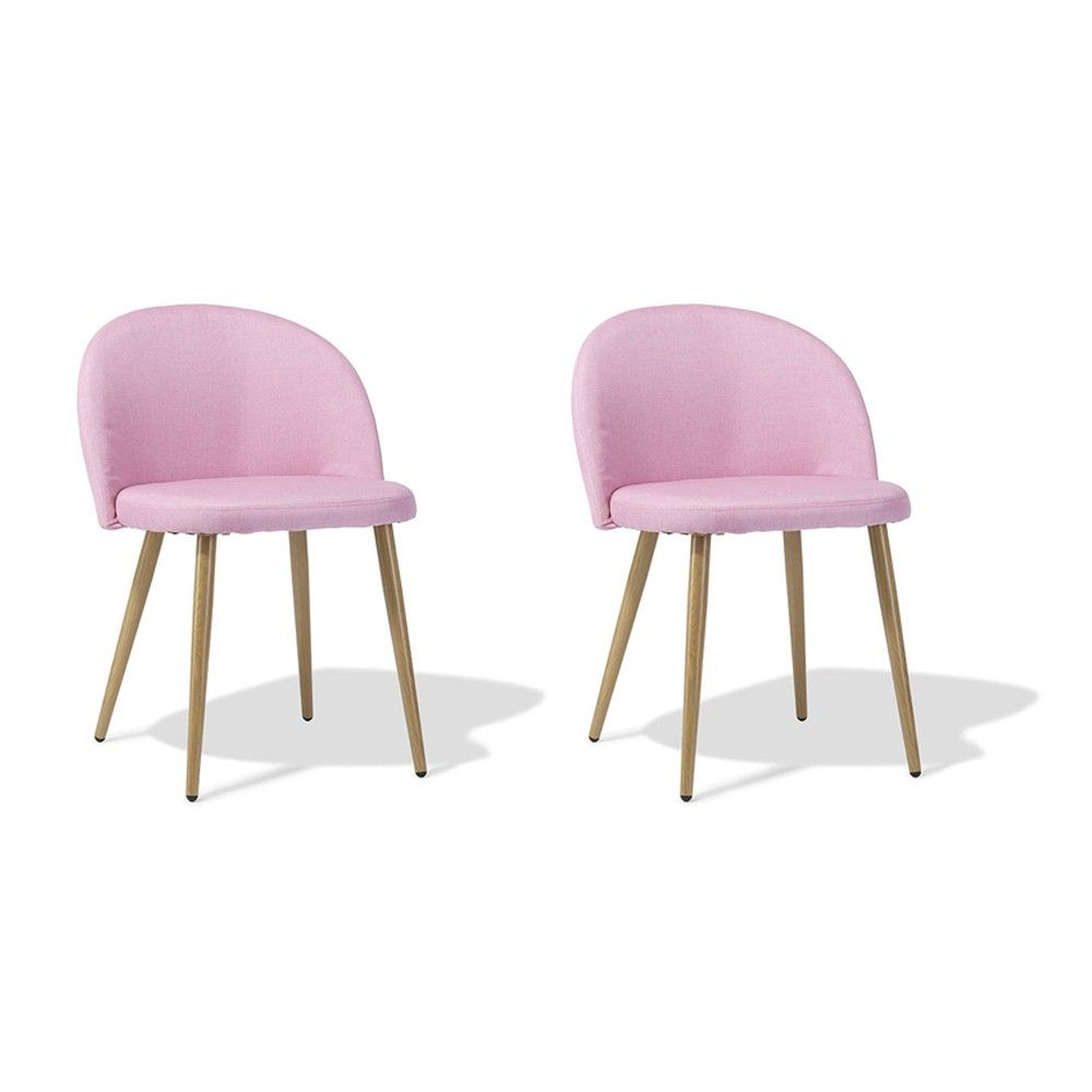 Lot De Chaises De Salle A Manger Chaise Gaëlle Rose X 2 In 2019 Style Douceur Scandi Chaise Salle