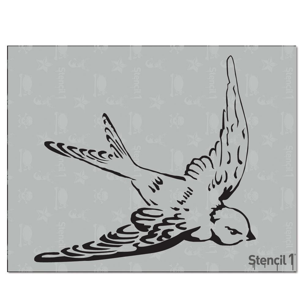 Stencil1 Swallow Stencil | Pinterest | Swallows, Stenciling and ...