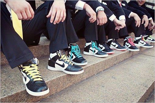 Pinner Groomsmen Mixing Shoes With Rainbow Shoelaces Priceless Groomsmen Shoes Wedding Sneakers Groom And Groomsmen Attire