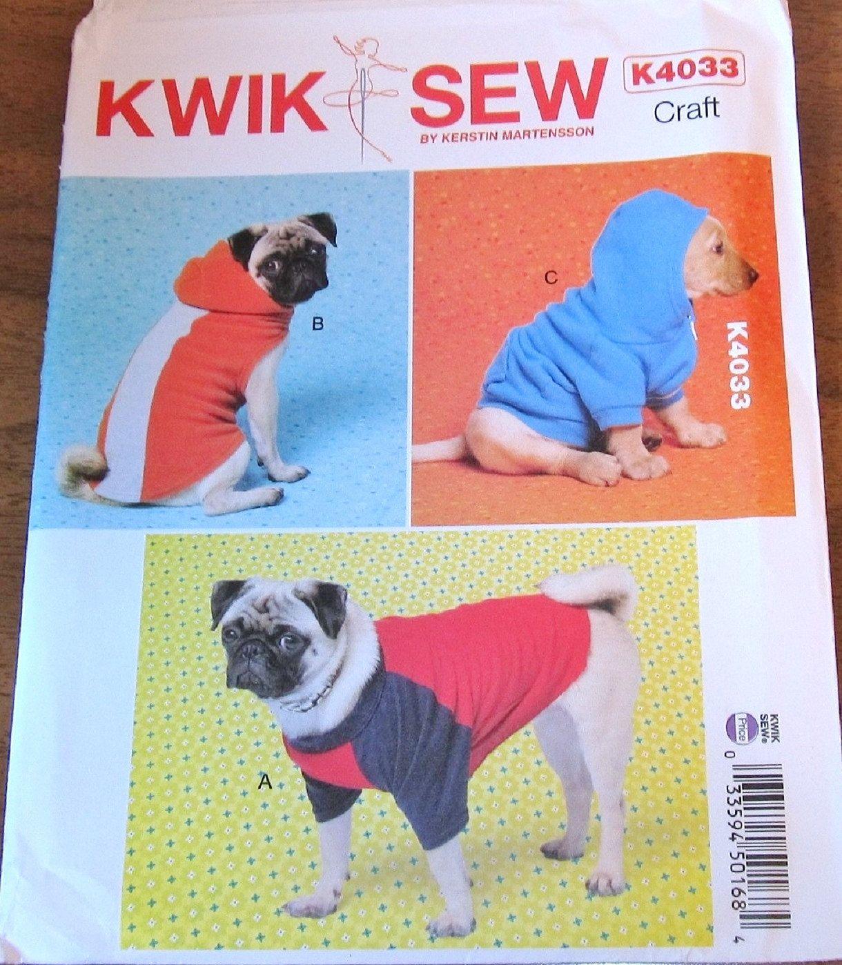 Kwik sew craft sewing pattern 4033 dog coats pet sweaters kwik sew craft sewing pattern 4033 dog coats pet sweaters hoodies clothes jeuxipadfo Image collections