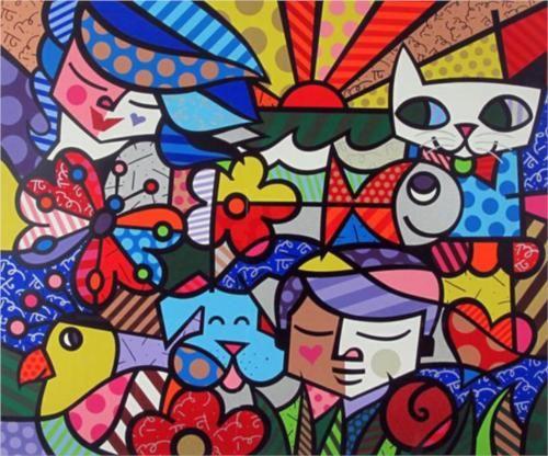 PHOTO CANVAS CHILDREN OF THE WORLD ROMERO BRITTO CANVAS WALL ART PRINTS