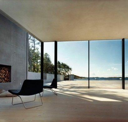 Modernes haus bauen schiebet re raumhohe fenster minimalistisch architektur in 2019 - Raumhohe fenster ...