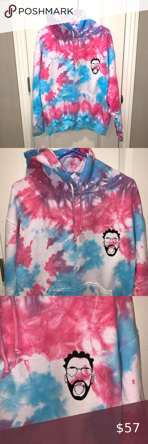 Bad Bunny Tie Dye Hoodie In 2021 Tie Dye Hoodie Tie Dye Graphic Crew Neck Sweatshirts [ 1740 x 580 Pixel ]