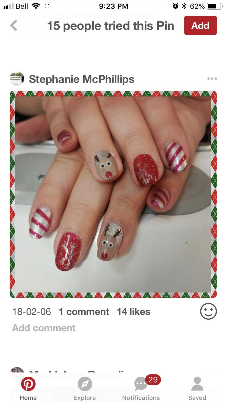 Christmas Nails Reindeer Nails For Kids Nails Christmas Nails