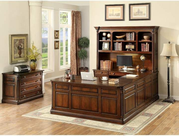 Co Darby Home Antoine Rectangular Credenza Desk Traditional Home Offices Home Office Furniture Home Office Design