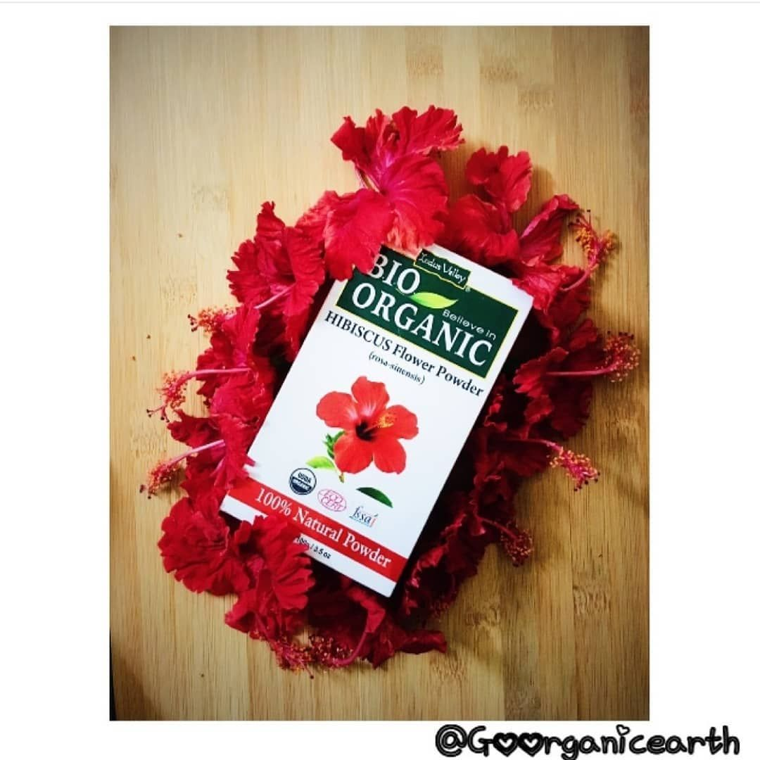 Credits Go Organic Earth Try Out Indusvalley Brand Bio Organic Hibiscus Flower Powder Which Is 100 Natural And Organic Hibiscus Hair Pack Hair Cleanser