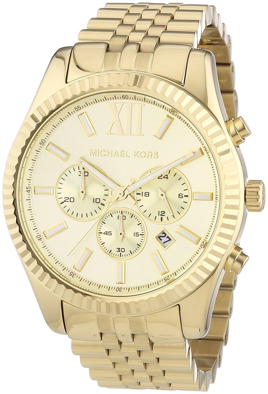 44f61b52103d Michael Kors Lexington Chronograph Champagne Dial MK8281 Mens Watch ...