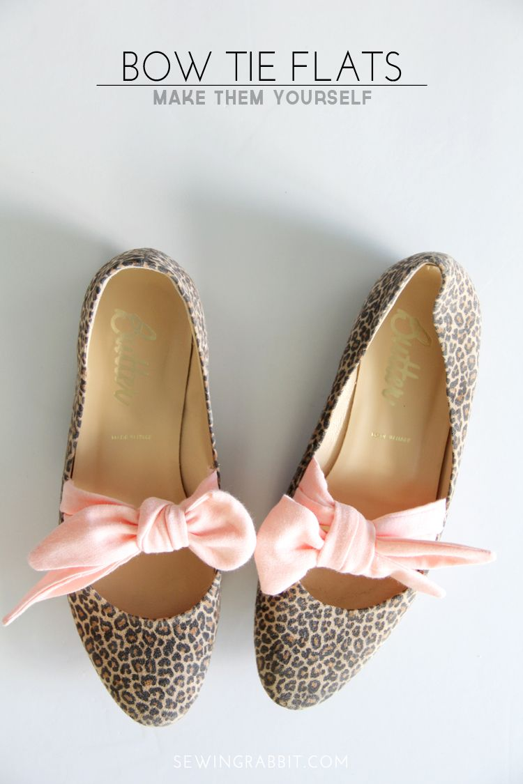 Bow Tie Flats DIY - The Sewing Rabbit
