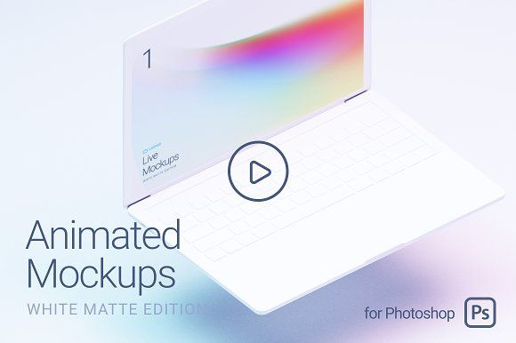 Looped Animated Mockups White By Ls On Creativemarket Mockup Templates Video Mockup Web Mockup
