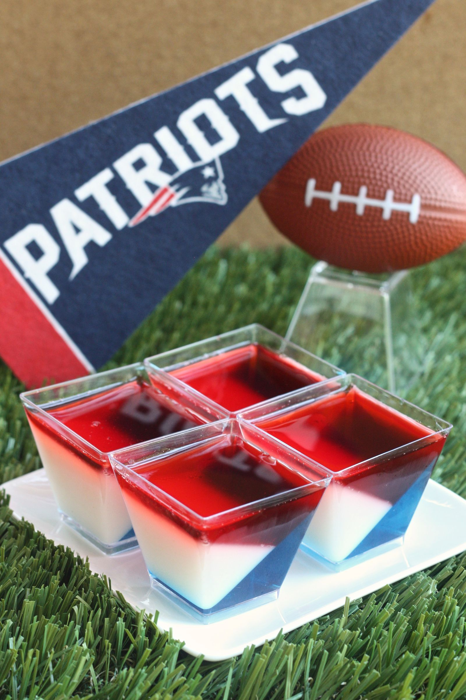 These Patriots Jell-O Shots Are The Only Thing Your Super Bowl Party Needs
