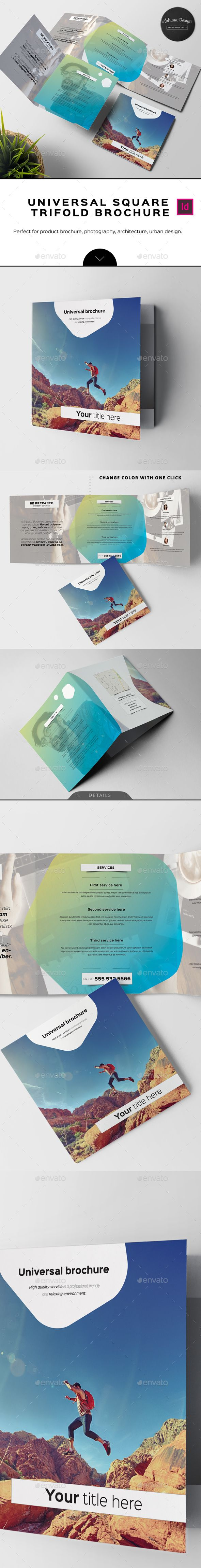 Universal Square Trifold Brochure   Brochures, Brochure template and ...
