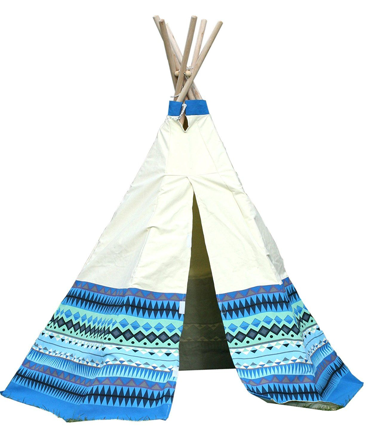 Garden Games Limited Childrenu0027s Aztec Teepee Wigwam Play Tent with Wooden Frame and Natural Cotton Canvas  sc 1 st  Pinterest & Garden Games Limited Childrenu0027s Aztec Teepee Wigwam Play Tent with ...