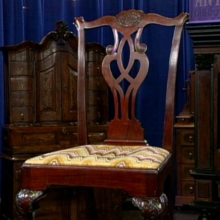 18th Century Philadelphia Chippendale Chair on Antiques Roadshow. 18th Century Philadelphia Chippendale Chair on Antiques Roadshow