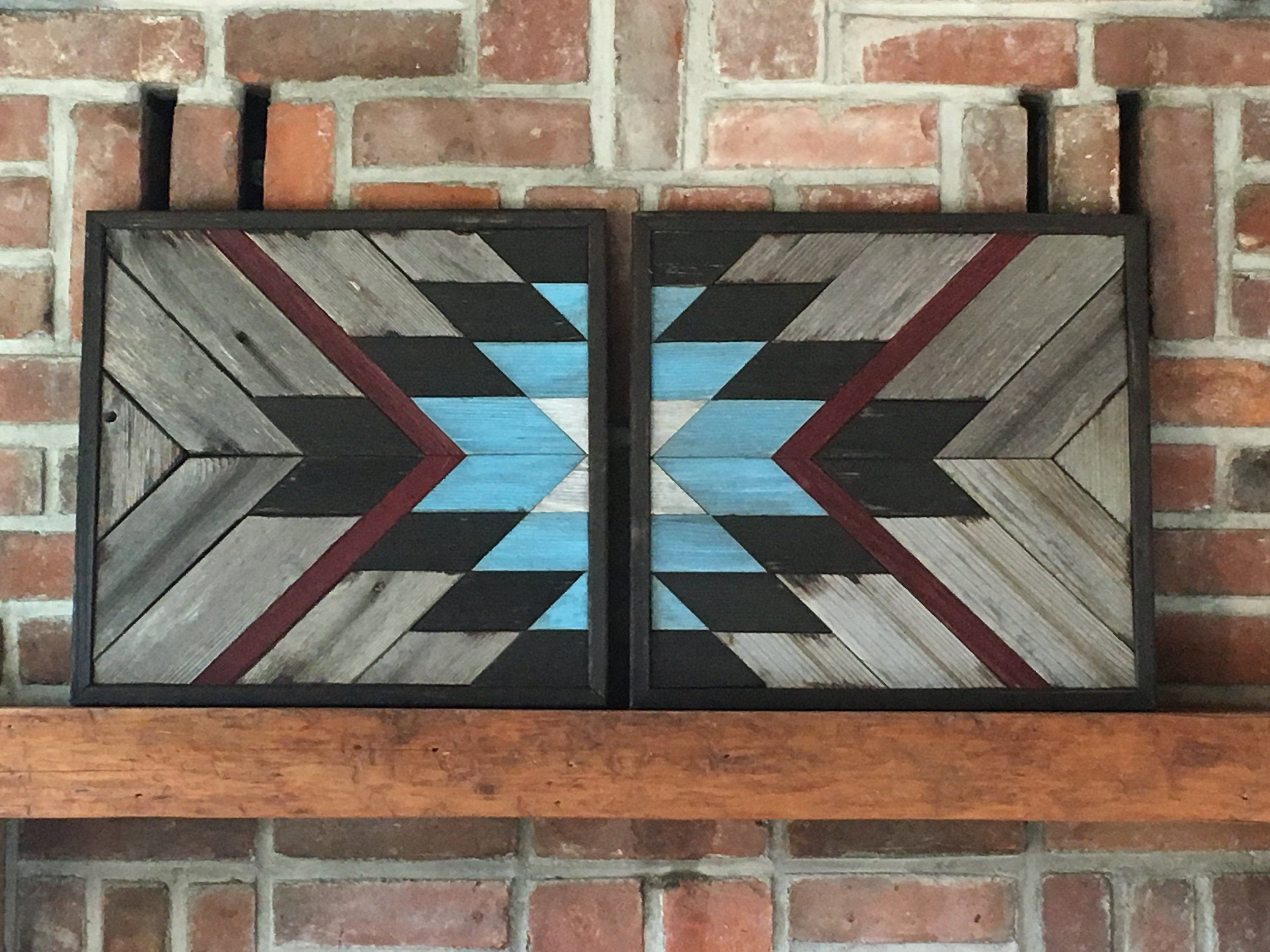 Reclaimed wood wall art wood quilt wall art farmhouse decor