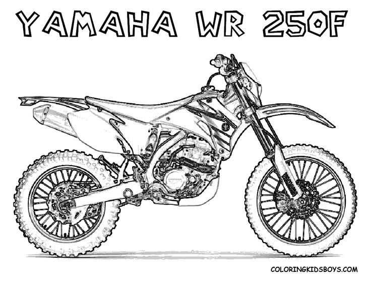 Print Out Coloring Pages | yamaha wr250f dirt bike for kids to print ...