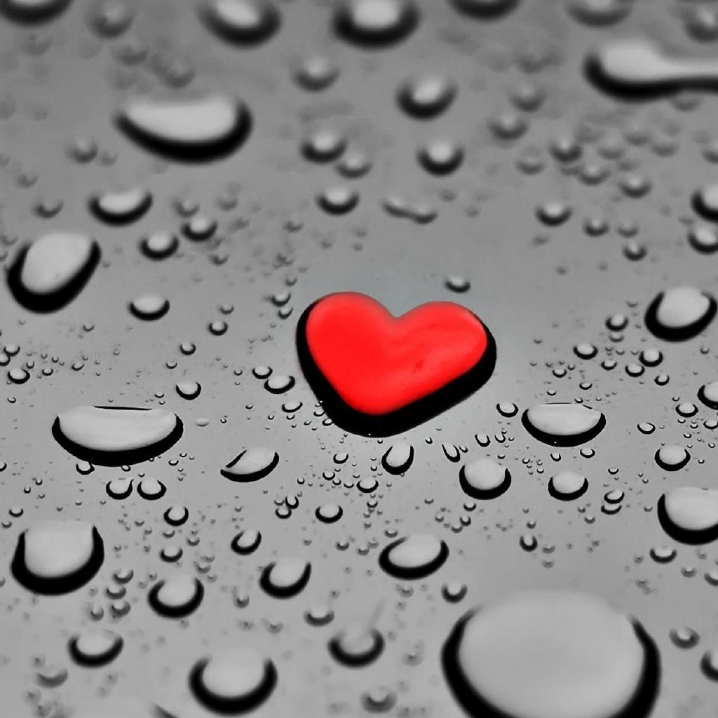 Heart Water Drops - Mobile9