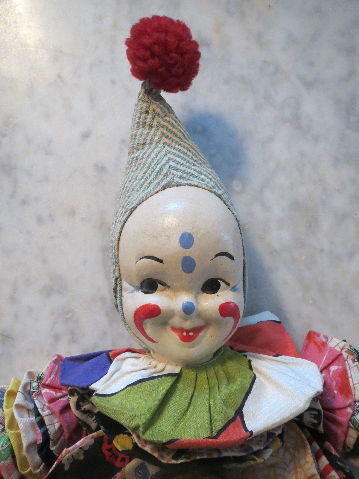 CIRCUS CLOWNS PORCELAIN DOLL FACES VINTAGE HAND PAINTED HEAD | eBay