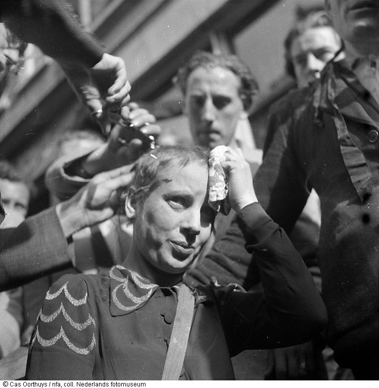 Amsterdam 1945 woman who was accused of having had an affair with nazi collaborator being shaved in amsterdam cas oorthuys publicscrutiny Images