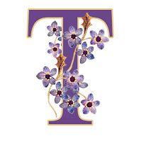 ArtbyJean - Papel Artesanía: Conjunto De Alfabeto del conjunto A02 - púrpura Rosas de madera libres impresiones clipart astuto.