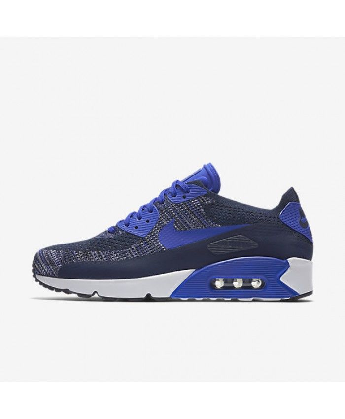 Nike Air Max 90 Ultra 2.0 Flyknit College Navy/White/Black/Paramount Blue  Mens Shoes | Nike Air Max 90 Ultra 2.0 Flyknit Mens Shoes | Pinterest | Air  max 90 ...