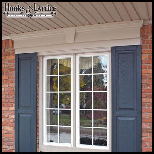 9 Flat Panel Decorative Window Header 105 85 Brick Exterior