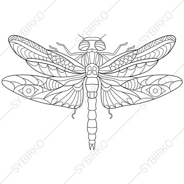 Coloring Pages For Adults Dragonfly Adult Coloring Pages Flower
