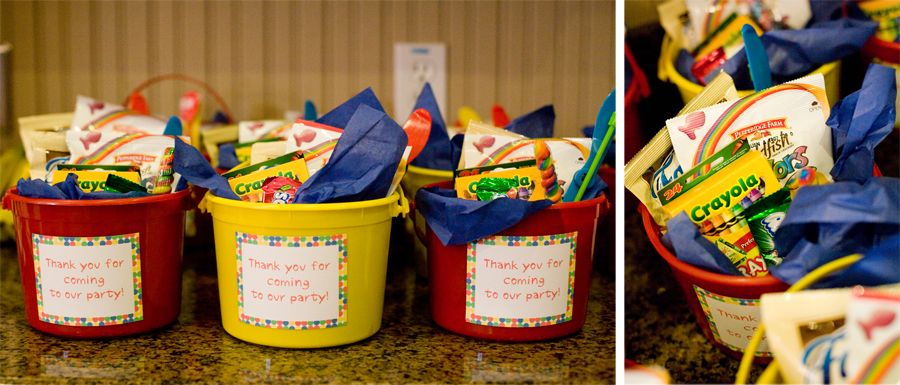 Beach Pail Party Favors Saying Thank You For Coming: Kids Birthday Party Goodie Bags - In A Pail!