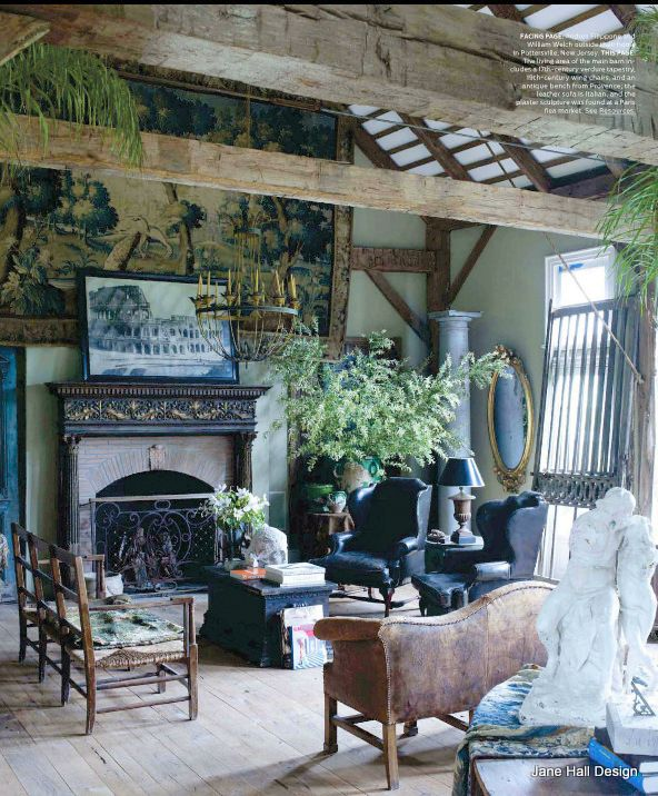 Living Room Design Magazine: Rustic Style Living Room Featured In World Of Interior