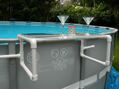Build a great shelf for your above ground pool pool - Diy above ground pool ...
