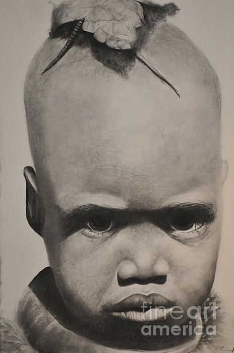 pouty face drawing by artist adrian pickett available for sale original