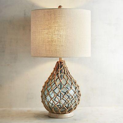 Rope Sea Glass Table Lamp Glass Table Lamp Table Lamp Lamp