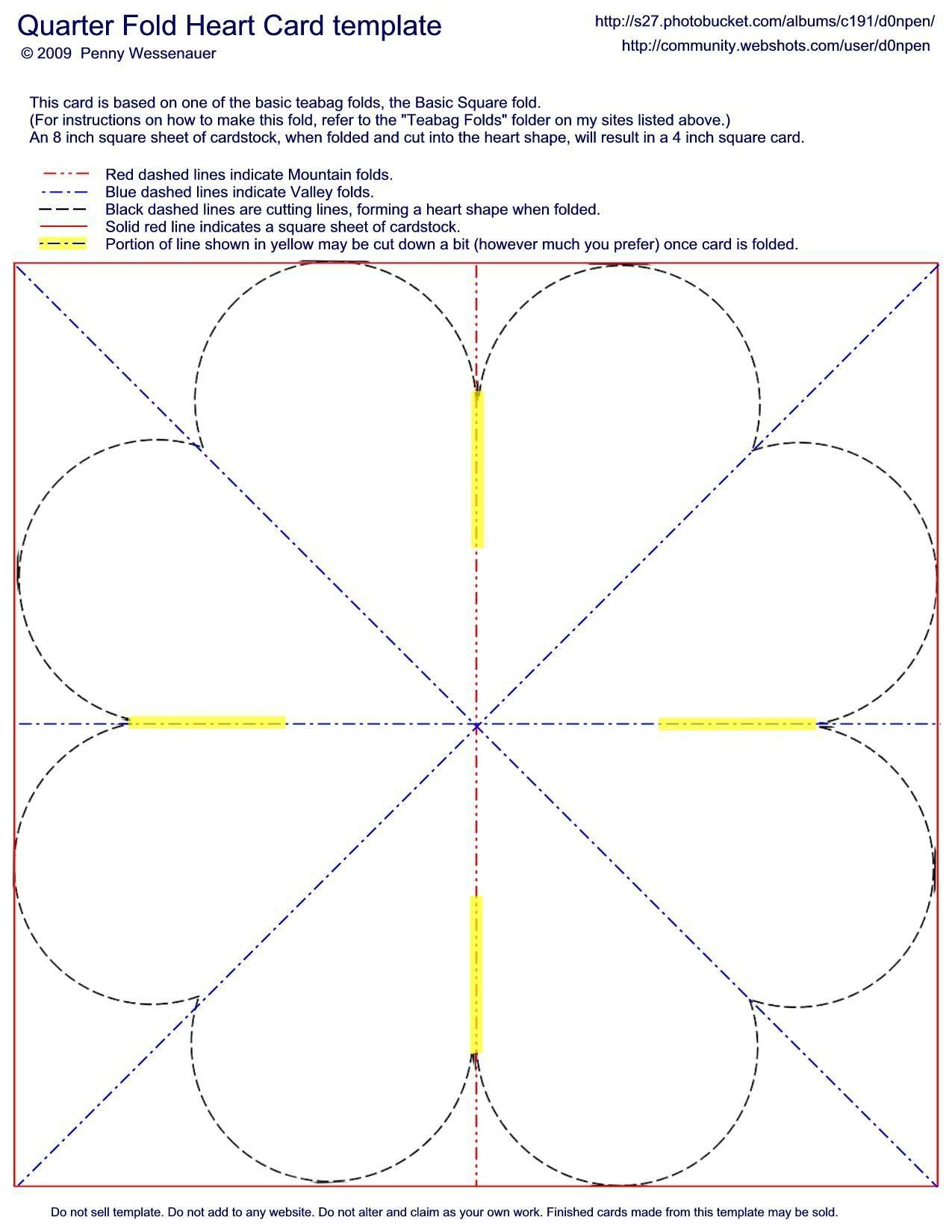 Card Templates :: Quarter Fold Heart Card image by d0npen ...