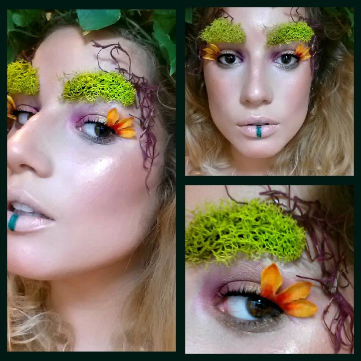 woodland nymph make up inspiration Fantasy makeup