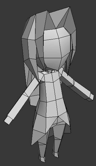 Low Poly Girl Low Poly Character Low Poly Low Poly Models