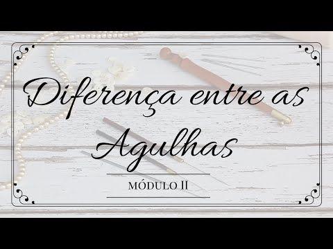 Bordado em Pedraria - Diferenças entre as agulhas Carter e Lunéville - YouTube