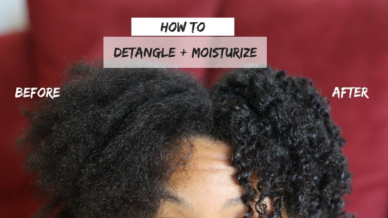 How to detangle and add moisture to dry natural hair video
