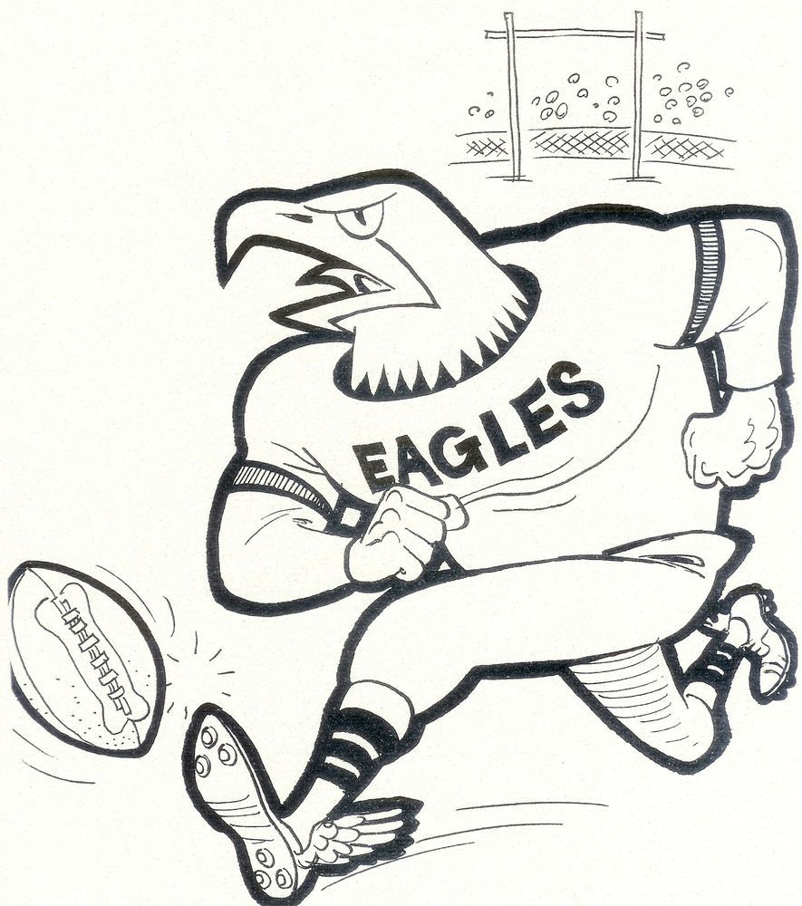Fabulous College Football Coloring Pages With Football Coloring Page And Football Coloring Pa Football Coloring Pages Philadelphia Eagles Colors Coloring Pages