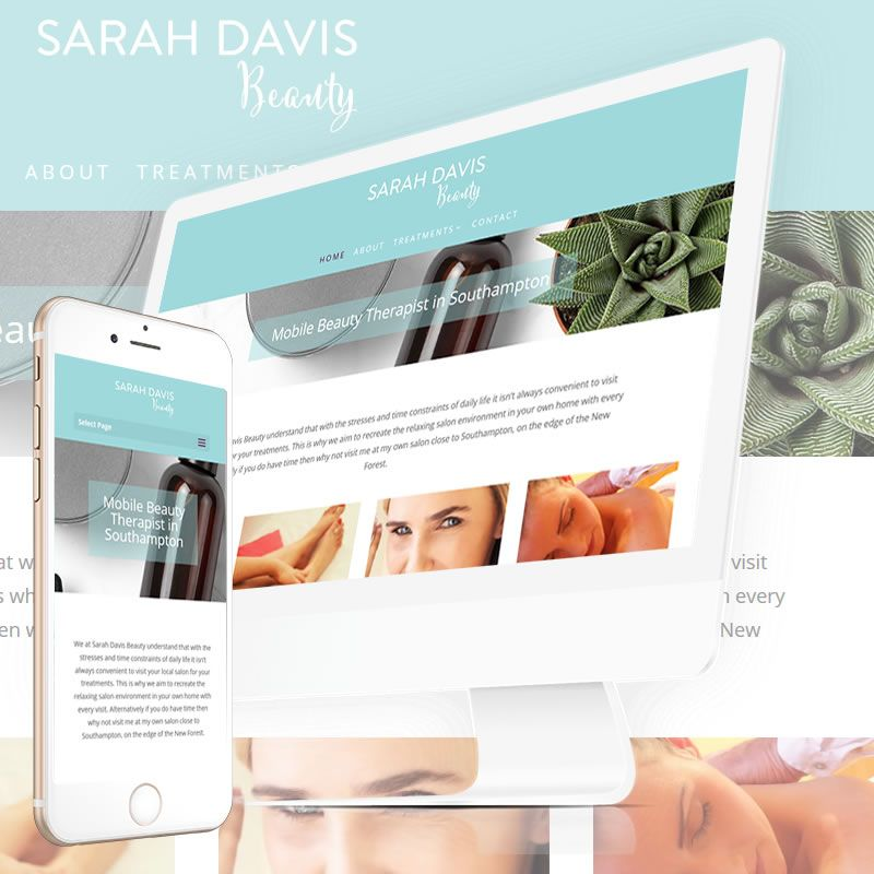 The New simple business card website for Sarah Davis Mobile Beauty ...