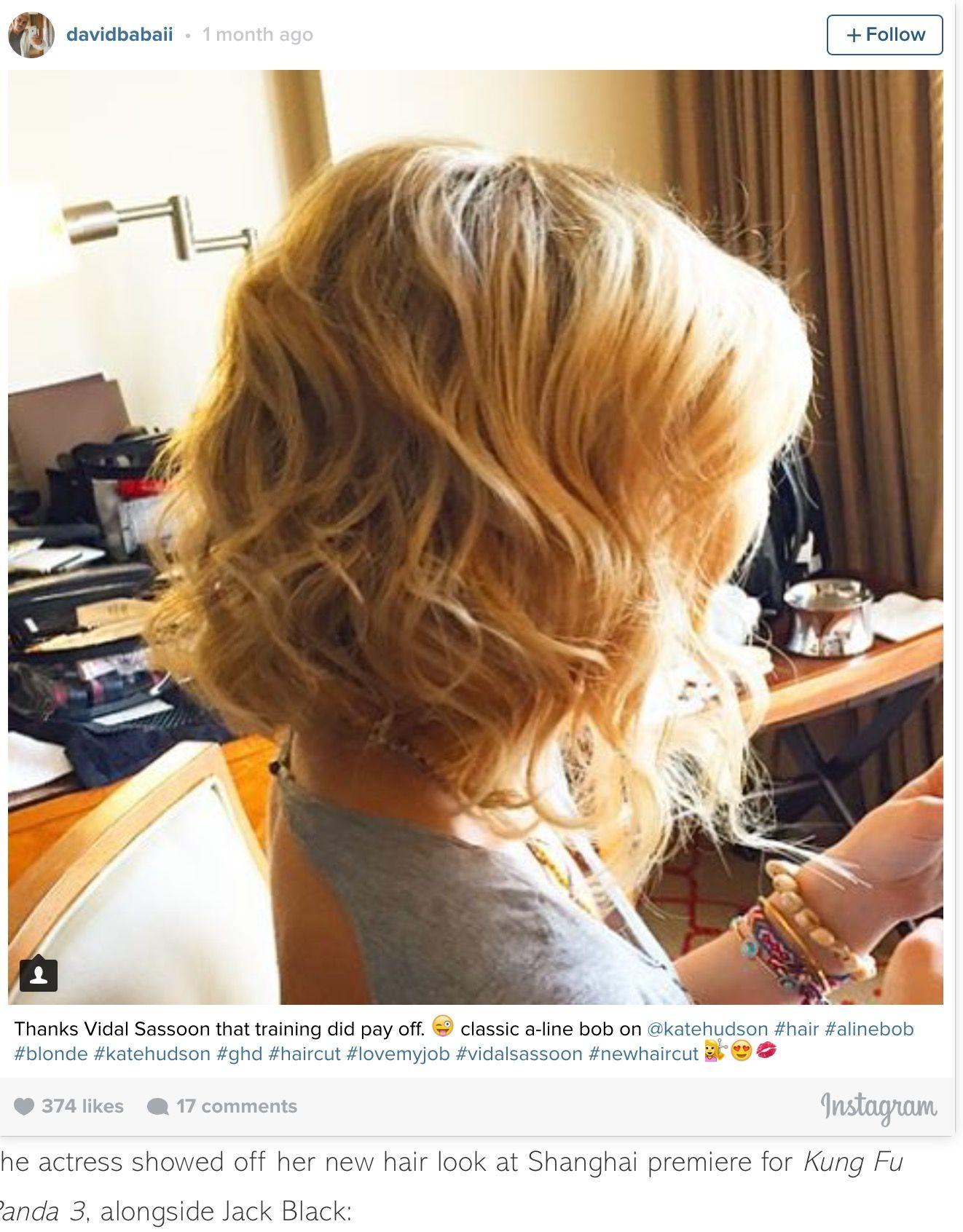 Kate Hudson bob 2016.